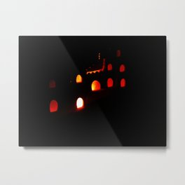 Lights in the Castle Metal Print