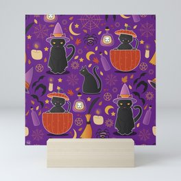 Witch cats Mini Art Print