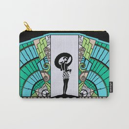 SEASIDE DECO - ART DECO LADY: OCEAN SPA Carry-All Pouch