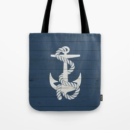 Blue Wood Anchor Tote Bag