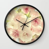 grace Wall Clocks featuring grace by Sylvia Cook Photography