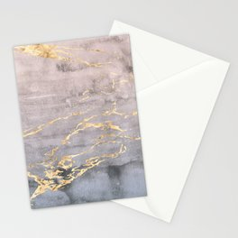 Watercolor Gradient Gold Foil IV Stationery Cards