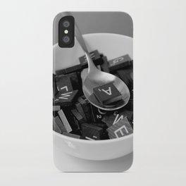 Alphabet Soup iPhone Case