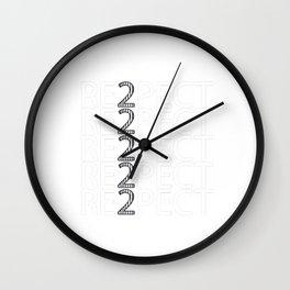 Respect Derek Jeter Wall Clock