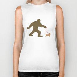 Bigfoot Walking A Chiweenie Biker Tank