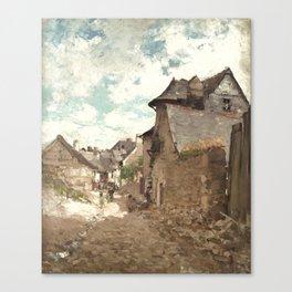 Nicolae Grigorescu - Street in Vitre Canvas Print