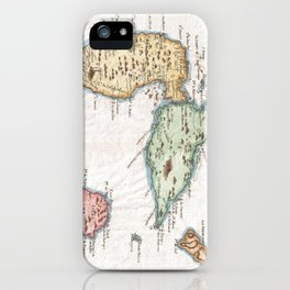 Vintage Map of Guadeloupe (1780) iPhone Case