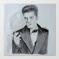 bruno mars Canvas Prints featuring Bruno Mars by Leroybrea