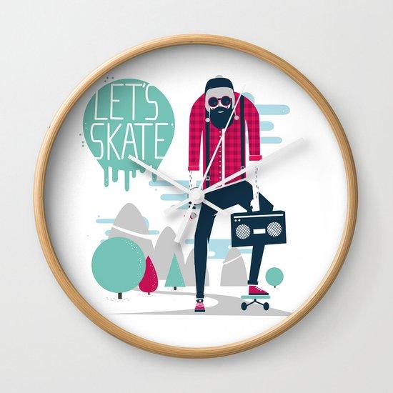 Let's skate  Wall Clock