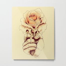 Rose a la Mode Metal Print