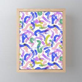 Brushstroke Party Wild & Free Framed Mini Art Print