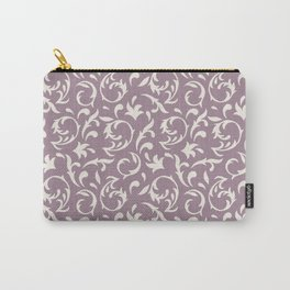 Decorative Pattern in Light Lavender an Cream Carry-All Pouch