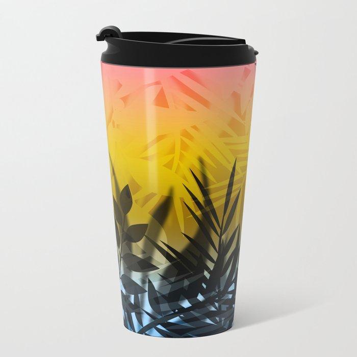 Hot summer . Heat . Metal Travel Mug
