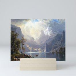 Albert Bierstadt In the Sierras Lake Tahoe Mini Art Print