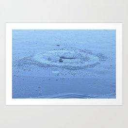 Frozen Chickadee Lake 2 Art Print