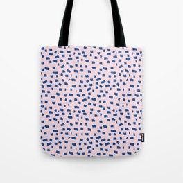 Blue Dash Tote Bag