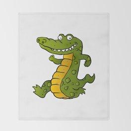 Cartoon crocodile Throw Blanket