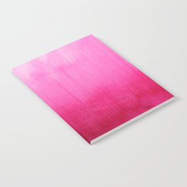 Modern fuchsia watercolor paint brushtrokes Notebook