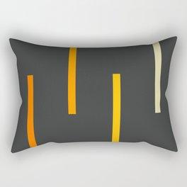 Abstract Minimal Retro Stripes Ashtanga Rectangular Pillow