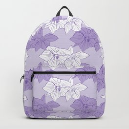 Purple Hellebores Backpack