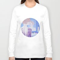 bathroom Long Sleeve T-shirts featuring Teenage Bathroom Feels by Hayley Dawn Muir