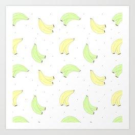 Plátano de Canarias Art Print