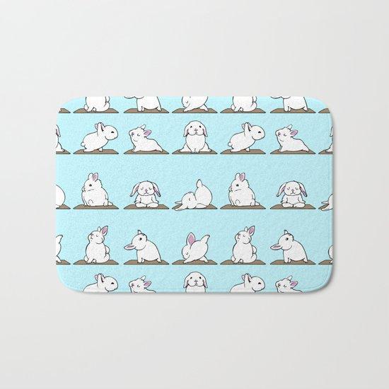 Bunnies Yoga Bath Mat
