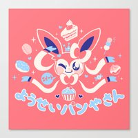 "sylveon Canvas Prints featuring ""Sweet"" Fairy Bakery by Miski"