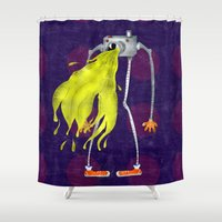 camera Shower Curtains featuring Camera  by Neige
