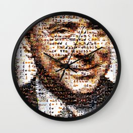 BEHIND THE FACE. Berlusconi | animals' bunga bunga Wall Clock