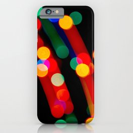 Bokeh Christmas Lights With Light Trails iPhone Case