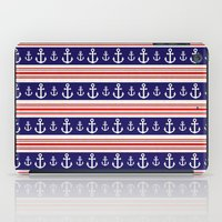 anchors iPad Cases featuring anchors by Manoou