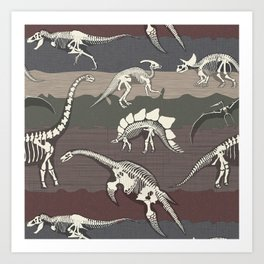Dinosaur's Dig Art Print