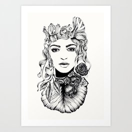 Nature Woman Art Print