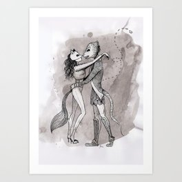 The Fox & The Lizard - La Zorra y El Lagarto Art Print