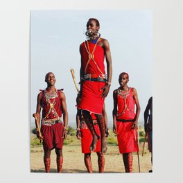 Warrior Dance in Nairobi, Kenya Poster