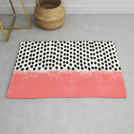 Lola - Abstract, pink, brushstroke, original, painting, trendy, girl, bold, graphic Rug