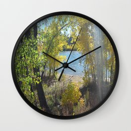 Sparkle Lake Wall Clock