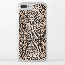 Celtic Warlord carbon Clear iPhone Case