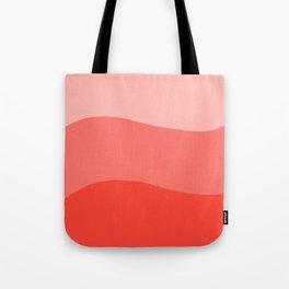 Living Coral Sushi Salmon Abstract Tote Bag