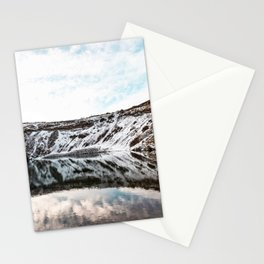 Crater Reflection Stationery Cards