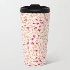 Botanical: Beige Vine Metal Travel Mug