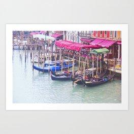 Gondola Row Art Print