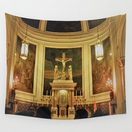 Yellow Church Wall Tapestry