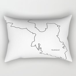 map of songdalen Rectangular Pillow