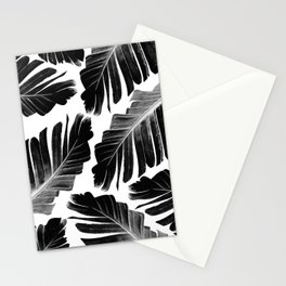 Tropical Black Banana Leaves Dream #1 #decor #art #society6 Stationery Cards