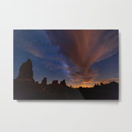 The Tango: Clouds and the Milky Way dance above Death Valley Metal Print