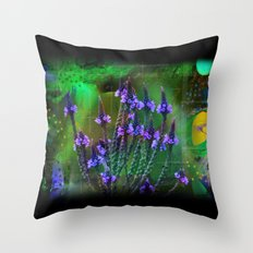 Flowers In A World Of Colors  Throw Pillow