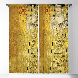 Portrait of A. Bloch-Bauer I by Gustav Klimt Blackout Curtain