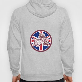 British Personal Trainer Dumbbell UK Flag Icon Hoody